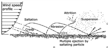 Factors affecting the extent of wind erosion