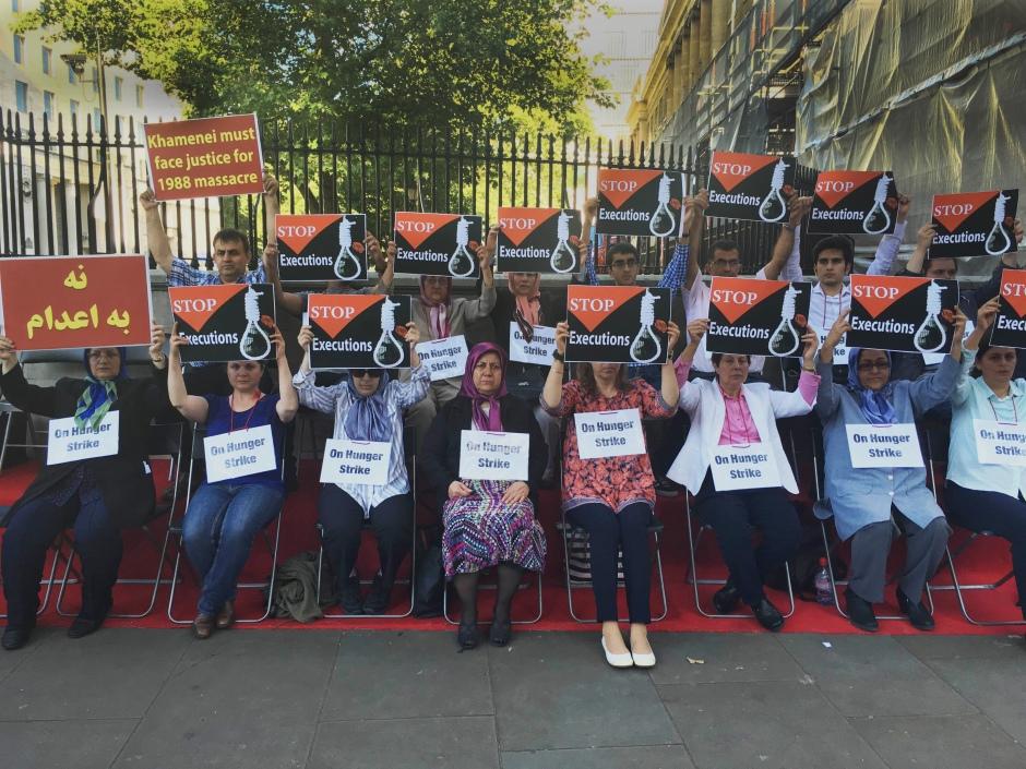 International hunger strike tocondemn mass execution in Iran