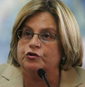 U.S. Congresswoman Ileana Ros-Lehtinen of Florida answers reporters' questions during a news conference at the Presidential House in Tegucigalpa
